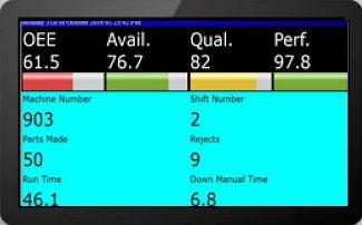 OEE Software Screen